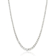 12.80ct Diamond 18k White Gold Graduated Tennis Necklace