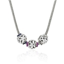 Charles Krypell Sweetpea Collection Sapphire and Sterling Silver Charm Necklace