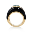 2.38ct Diamond and Emerald 18k Yellow Gold Ring