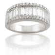 1.49ct Diamond Platinum Wedding Band Ring