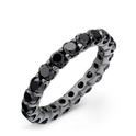 Black Diamond 14k Black Gold Eternity Wedding Band Ring