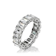Natalie K Diamond Platinum Eternity Wedding Band Ring