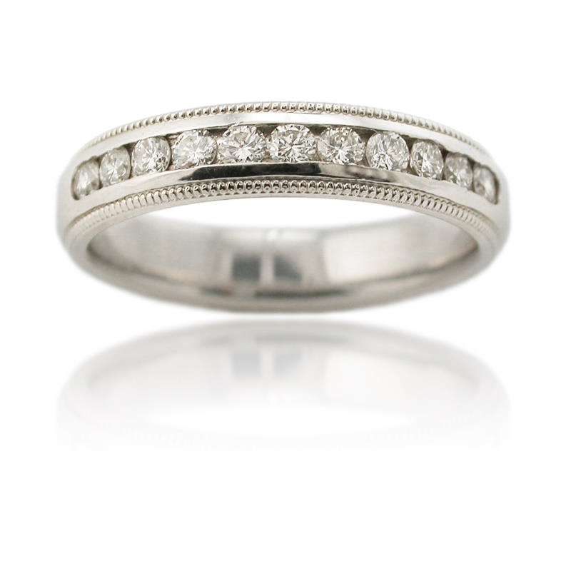 55ct s antique style platinum wedding band ring