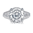 1.34ct Christopher Designs Diamond 18k White Gold Engagement Ring Setting