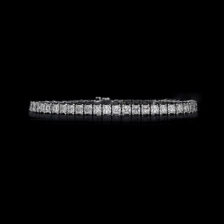 Christopher Designs Diamond 18k White Gold Tennis Bracelet