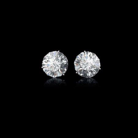 Christopher Designs Diamond 18k White Gold Stud Earrings