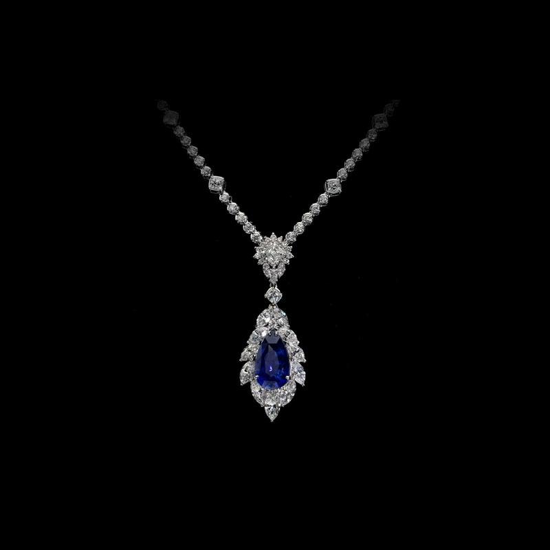 1244ct christopher designs diamond 18k white gold sapphire pendant 1244ct christopher designs diamond 18k white gold sapphire pendant necklace aloadofball Choice Image
