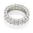 6.35ct Diamond Platinum Eternity Wedding Band Ring