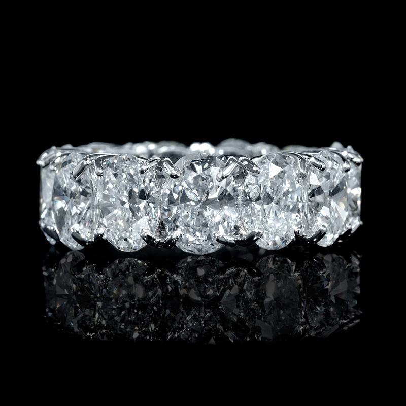 923ct Diamond Platinum Eternity Wedding Band Ring