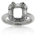 .85ct Diamond Platinum Halo Engagement Ring Setting