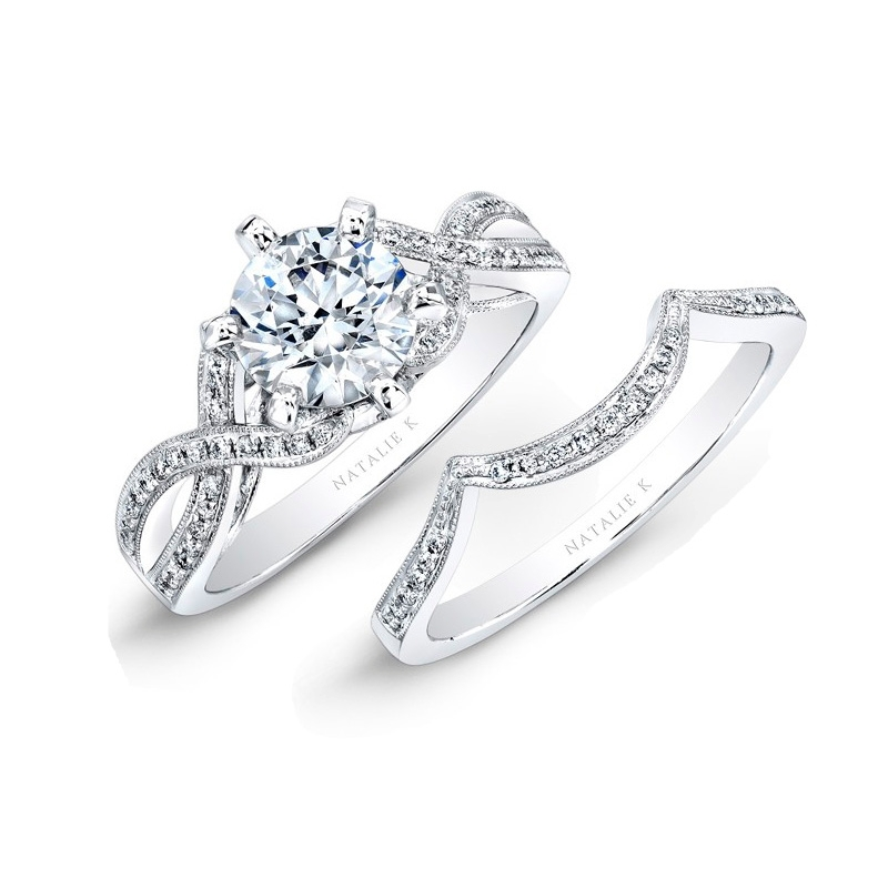 natalie k 18k white gold engagement ring setting