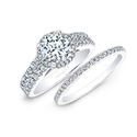 Natalie K Diamond 14k White Gold Halo Engagement Ring Setting