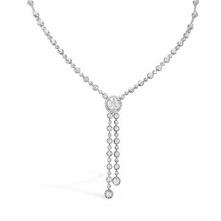 Simon G Diamond 18k White Gold Necklace
