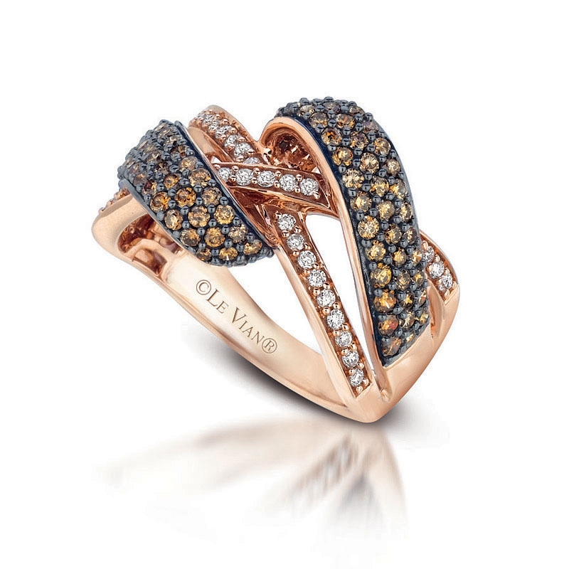 21ct Le Vian Chocolate Diamond 14k Strawberry Gold Ring