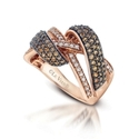 Le Vian Chocolate Diamond 14k Strawberry Gold Ring