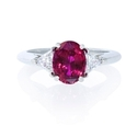 Diamond and Ruby Platinum Ring