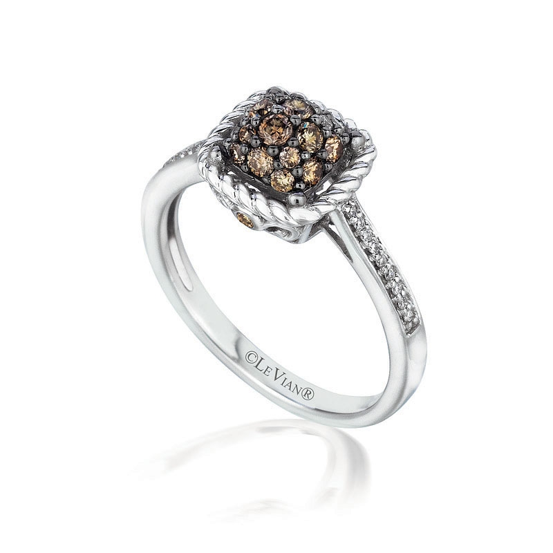 06ct Le Vian Chocolate Diamond 14k White Gold Ring