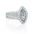 1.90ct Diamond 18k White Gold Halo Engagement Ring Setting