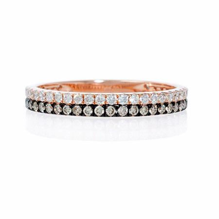 Diamond 18k Rose Gold and Black Rhodium Eternity Ring