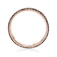 .72ct Diamond 18k Rose Gold and Black Rhodium Eternity Ring