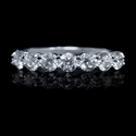 Diamond 18k White Gold Seven Stone Wedding Band Ring