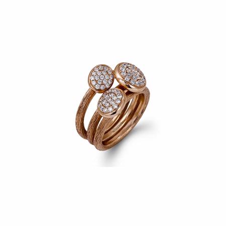 Simon G Diamond 18k Rose Gold Ring