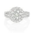 .65ct Diamond 18k White Gold Halo Engagement Ring Setting