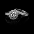 2.67ct Christopher Designs Diamond 18k White Gold Halo Engagement Ring Setting