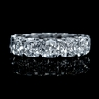 9.89ct Diamond EGL Certified 18k White Gold Eternity Wedding Band Ring
