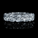 Diamond EGL Certified 18k White Gold Eternity Wedding Band Ring