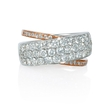 1.71ct Diamond 18k Two Tone Gold Ring