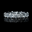 4.22ct Diamond Platinum Eternity Wedding Band Ring