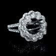 1.80ct Diamond 18k White Gold Halo Engagement Ring Setting