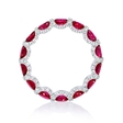 .79ct Diamond and Ruby 18k White Gold Eternity Wedding Band Ring