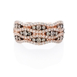 .54ct Diamond 18k Rose Gold and Black Rhodium Ring
