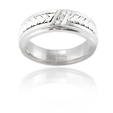 .09ct Men's Diamond 14k White Gold Wedding Band Ring