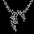9.29ct Diamond 18k White Gold Necklace