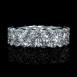 5.86ct Diamond Two Row 18k White Gold Eternity Wedding Band Ring