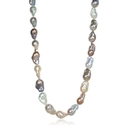 Multi-Colored Baroque Pearl Necklace