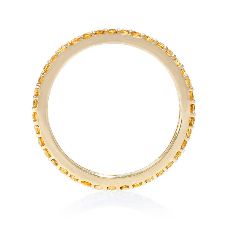 yellow sapphire 18k yellow gold eternity wedding band ring. Black Bedroom Furniture Sets. Home Design Ideas