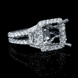 1.71ct Diamond 18k White Gold Halo Engagement Ring Setting
