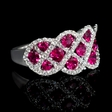 .41ct Diamond and Ruby 18k White Gold Ring