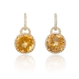 .60ct Diamond and Citrine 14k Yellow Gold Dangle Earrings