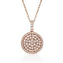 Diamond 14k Rose Gold Pendant Necklace