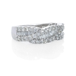 .87ct Diamond 18k White Gold Wedding Band Ring