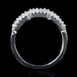 .83ct Diamond 18k White Gold Wedding Band Ring