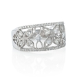 .60ct Diamond Antique Style 18k White Gold Ring