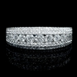 1.07ct Diamond 18k White Gold Wedding Band Ring