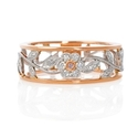 Simon G Diamond Antique Style 18k Two Gold Floral Ring