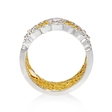 .32ct Simon G Diamond Antique Style 18k Two Tone Gold Ring